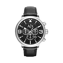 Armani Exchange - Men's black chornograph strap watch