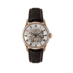 Rotary - Gents rose gold plated automatic watch
