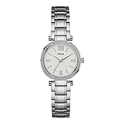 Guess - Ladies watch with a silver bracelet and a white dial w0767l1
