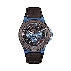 Guess - Mens brown crocodile leather watch w0674g5