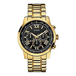 Guess - Mens chronograph gold bracelet watch w0379g4