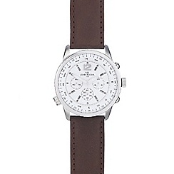 RJR.John Rocha - Men's brown leather compass watch