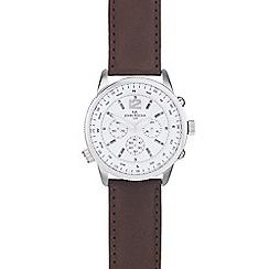 RJR.John Rocha - Men's brown leather compass watch