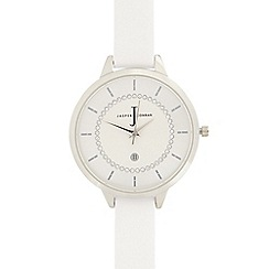J by Jasper Conran - Ladies white stone analogue watch