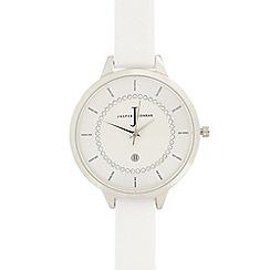 J by Jasper Conran - Ladies white stone analogue watch