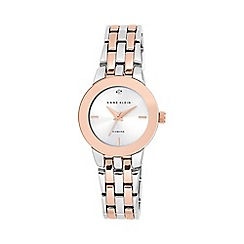 Anne Klein - Ladies rose and silver diamond bracelet watch