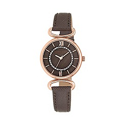 Anne Klein - Ladies brown saffiano leather strap watch