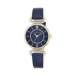 Anne Klein - Ladies navy leather strap watch