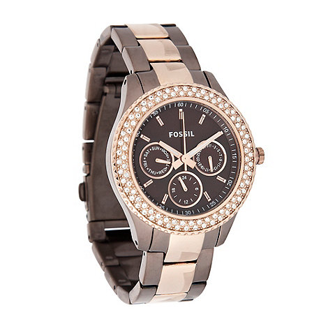 Fossil - Ladies bronze bracelet watch