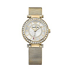 Juicy Couture - Ladies gold Cali mesh strap crystal set watch