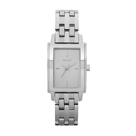 DKNY - Ladies silver rectangular dial watch