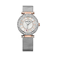 Juicy Couture - Ladies stainless steel and rose gold Cali mesh strap crystal set watch