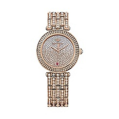 Juicy Couture - Ladies rose gold Cali ombre rose crystal watch