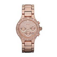 DKNY - Ladies rose stone bezel watch