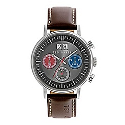 Ted Baker - Men's brown chronograph strap watch