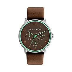 Ted Baker - Men's brown leather strap watch te10023496