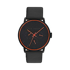 Ted Baker - Men's black leather strap watch te10029566
