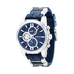 Police - Men's blue 'Matchcord' silicone multifunction watch 14541js/03p