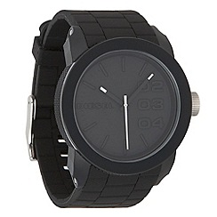 Diesel - Men's black rubber strap watch