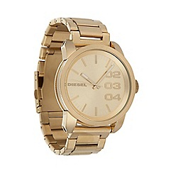 Diesel - Men's 'Double Down' gold dial & bracelet watch