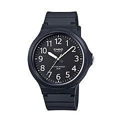 Casio - Unisex core black analogue watch