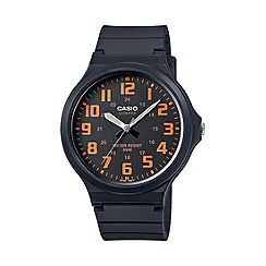 Casio - Unisex core black and orange watch mw-240-4bvef