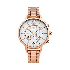 Lipsy - Ladies rose gold tone bracelet watch lp425