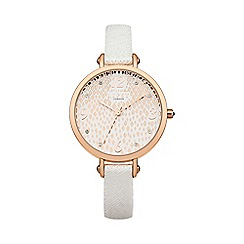 Lipsy - Ladies white strap watch lp417