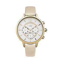 Lipsy - Ladies white strap watch lp420