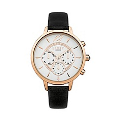Lipsy - Ladies black strap watch lp422