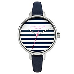 Daisy Dixon - Ladies navy leather strap watch