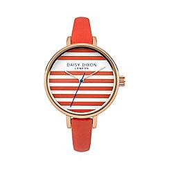 Daisy Dixon - Ladies coral leather strap watch