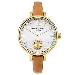 Daisy Dixon - Ladies camel leather strap watch
