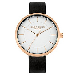 Daisy Dixon - Ladies black leather strap watch