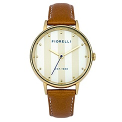 Fiorelli - Ladies tan leather strap watch