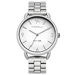 Fiorelli - Ladies silver tone bracelet watch