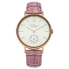 Fiorelli - Ladies pink leather strap watch