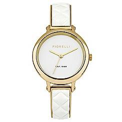 Fiorelli - Ladies white and  gold tone bangle watch