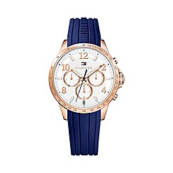 Tommy Hilfiger - Ladies blue silicone chronograph watch