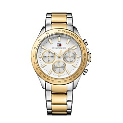 Tommy Hilfiger - Men's two tone chronograph bracelet watch