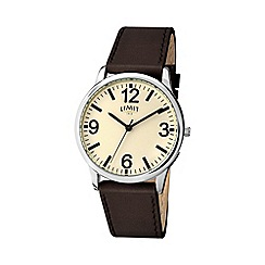 Limit - Men's brown strap watch