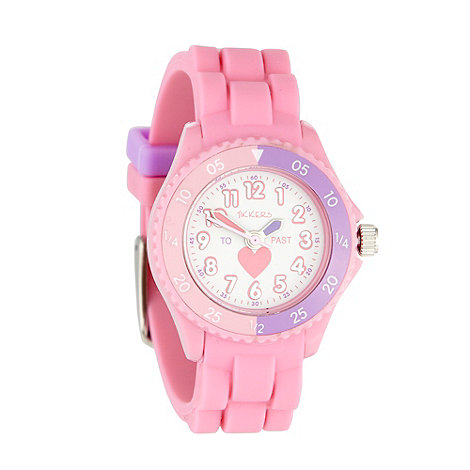 Tikkers - Kids' pink heart dial watch