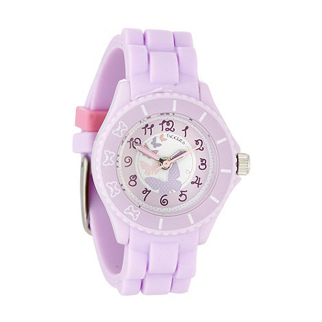 Tikkers - Kids+ lilac rubber strap watch