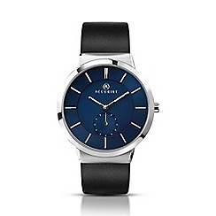 Accurist - Men's black leather strap watch 7100.01
