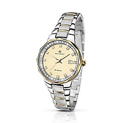 Accurist - Ladies stone set, two-tone bracelet watch