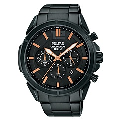 Pulsar - Men's black chronograph bracelet watch