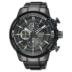 Pulsar - Men's grey chronograph bracelet watch