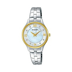 Pulsar - Ladies two tone bracelet watch