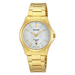 Pulsar - Ladies stainless gold plated bracelet watch