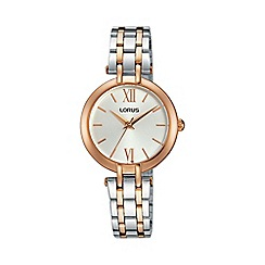 Lorus - Women's two tone dress bracelet watch rg288kx9